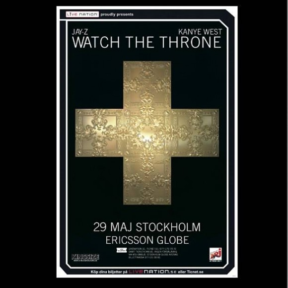 Jay-Z och Kanye West Watch the Throne till Stockholm 2012