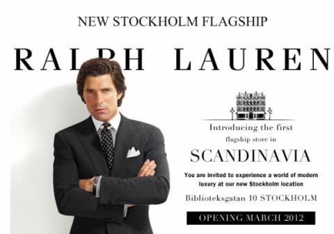 """Ralph Lauren Stockholm Biblioteksgatan 10, första """"flagship store"""" i skandianvien. ÄNTLIGEN!"""