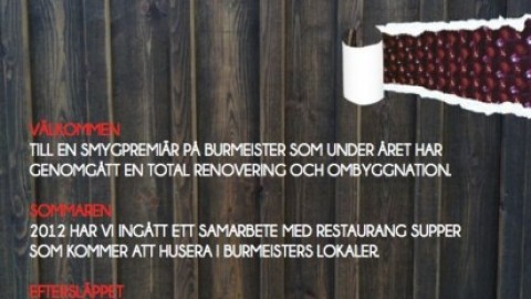 Smygpremiär Burmeister Visby