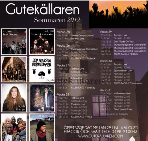 Gute program 2012 sommar